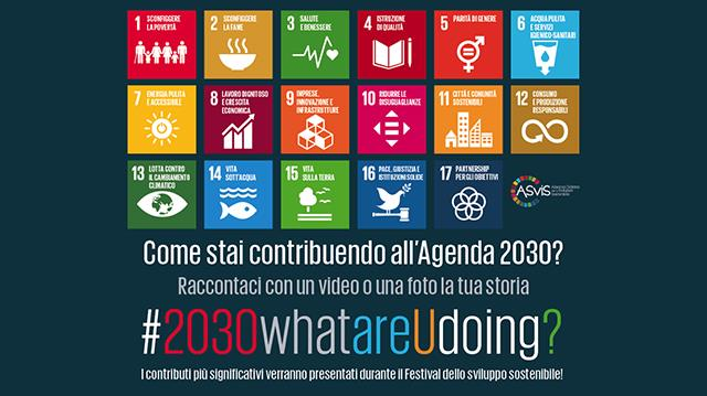 Campagna Social #2030whatareUdoing?